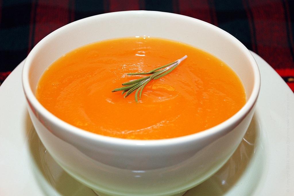суп с тыквой и пшоном