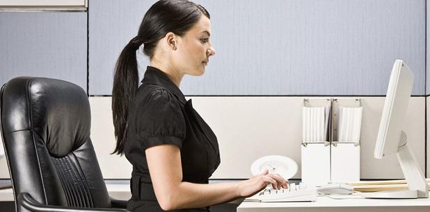 Фото: сидение за компьютером показатель шейной грыжи